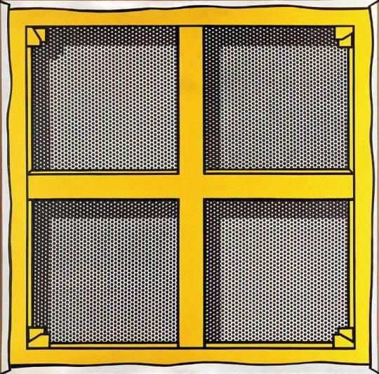 112_Roy_Lichtenstein_Stretcher Frame with Cross Bars III_1968