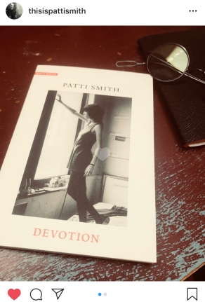 Patti Smith on a book cover